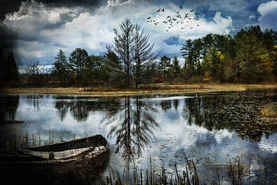 Seney And The Rowboat Art Print