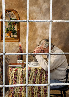 Photograph - Senior Male Praying by Trudy Wilkerson