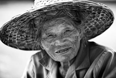 Senior Vendor Thai Woman Art Print