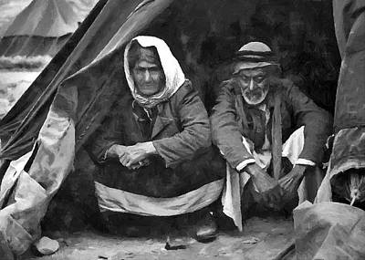 Refugee Art Photograph - Seniors At Ein El-hillweh by Munir Alawi