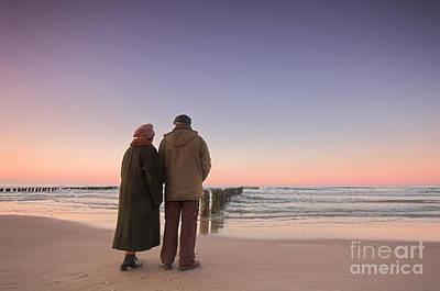 Storm Photograph - Seniors' Love And Ocean by Michal Bednarek