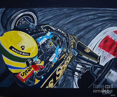 Senna Onboard Print by Jose Mendez