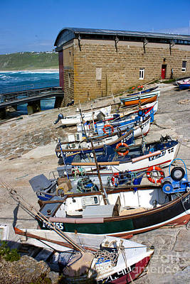Sennen Cove Fishing Fleet Print by Terri Waters