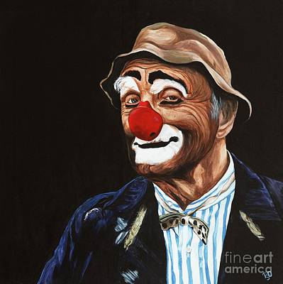 Clown Art Painting - Senor Billy The Hobo Clown by Patty Vicknair