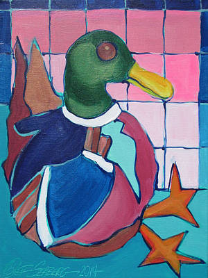 Painting - Senor Duck Sitting by Jeff Seaberg