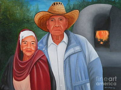 Painting - Senor Y Senora Sanchez by Lora Duguay