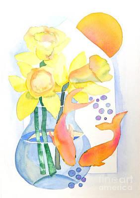 Art Print featuring the painting Sense Of Liberation by Shirin Shahram Badie