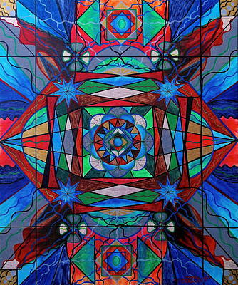 Sacred Geometry Painting - Sense Of Security  by Teal Eye  Print Store