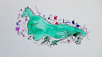 Aquarel Drawing - Sensitivity by Domantas Cibas