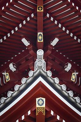 Detalhes Photograph - Sensoji Roof Symmetry by Joao Maia