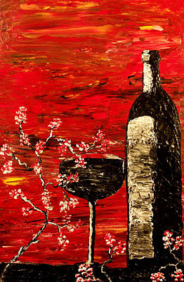 Red Wine Painting - Sensual Awakening by Mark Moore