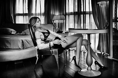 Woman Lingerie Photograph - Sensual... by Fabrizio Micheli