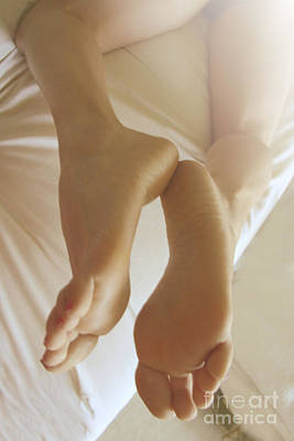 Sensual Feet Art Print by Tos