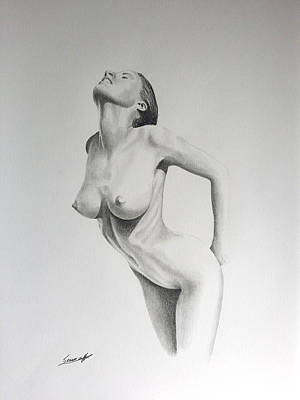 Naked Drawing - Sensual II by Sean Afford