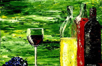 White Wine Painting - Sensual Nectar  by Mark Moore