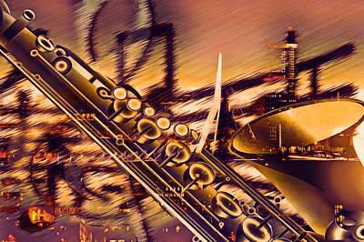 Trombone Mixed Media - Sensual Sax by Georgiana Romanovna