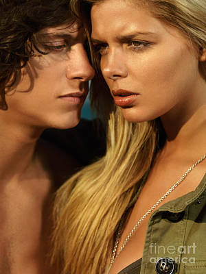 Couple Sex Photograph - Sensual Young Couple Faces by Oleksiy Maksymenko