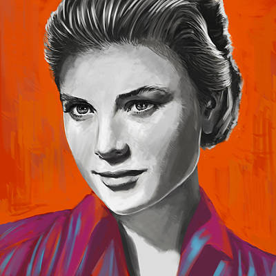 Grace Kelly Painting - Sensuality by Balazs Pakozdi