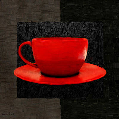 Caffe Digital Art - Sensuality by Lourry Legarde