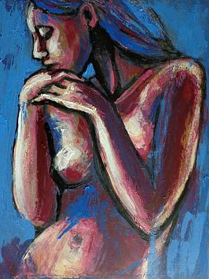 Frontal Nude Painting - Sentimental Mood- Female Nude by Carmen Tyrrell
