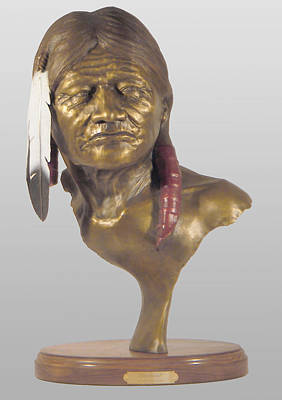 Indians Sculpture - Sentinel by Hugh Blanding