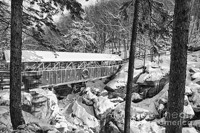 Sentinel Pine Covered Bridge - Franconia Notch State Park New Hampshire Usa Print by Erin Paul Donovan