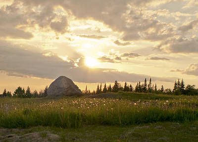 Photograph - Sentinel Rock Sunset by Kathryn Whitaker