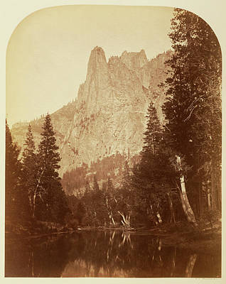 Yosemite National Park Drawing - Sentinel View Of The Valley 3270 Ft. Yo Semite Carleton by Litz Collection