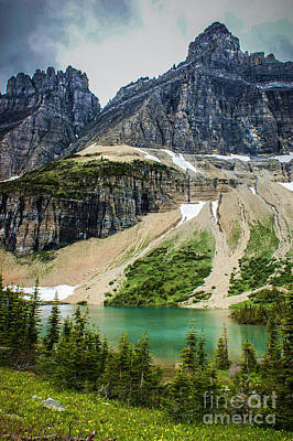 Photograph - Sentinels Over Iceberg Lake by Jim McCain