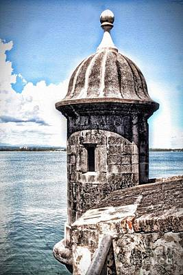 Sentry Box In El Morro Hdr Art Print