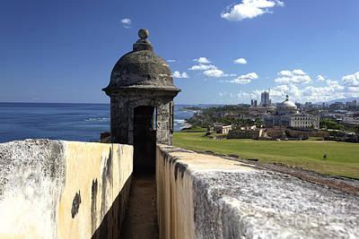 Sentry Post Overlooking San Juan Art Print by George Oze