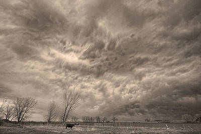 Bo Insogna Photograph - Sepia Angry Skies by James BO  Insogna