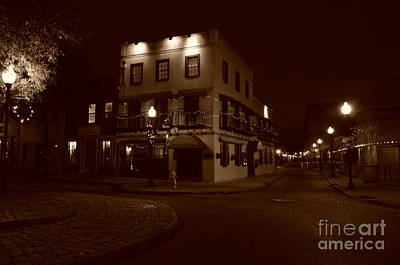 Photograph - Sepia At Night by Bob Sample