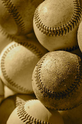 Photograph - Sepia Baseballs Iphone Case And Cards by Bill Owen