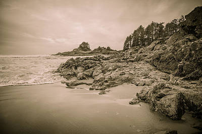 Photograph - Cox Bay Sepia by Roxy Hurtubise