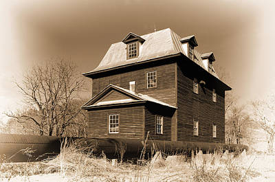 Sepia Big Otter Mill - Va. Art Print by Steve Hurt