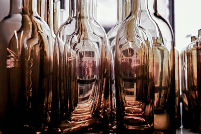 Photograph - Sepia Bottles by Craig Perry-Ollila