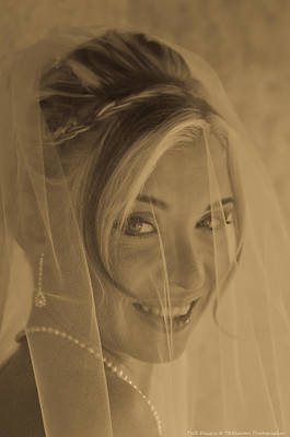 Photograph - Sepia Bride by Teresa Blanton