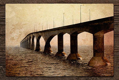 Photograph - Sepia Bridge by WB Johnston