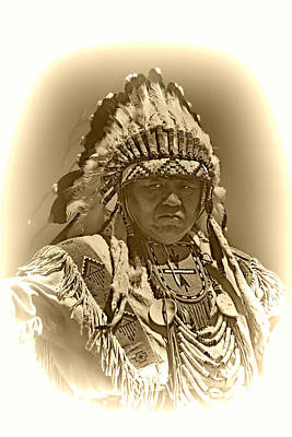 Sepia Chief Art Print by Scarlett Images Photography