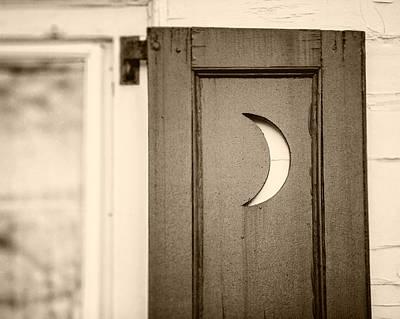 Sepia Crescent Moon Bathroom Decor Art Print