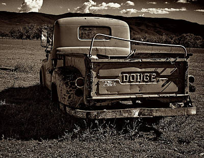 Photograph - Sepia Dodge by Charles Muhle