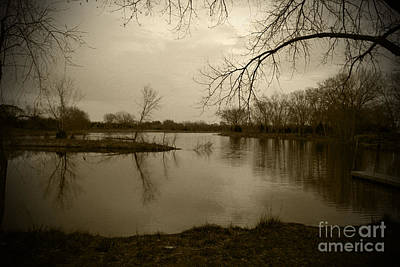 Sepia Lake Art Print