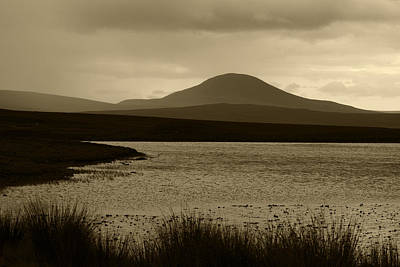 Photograph - Sepia Loch View The Highlands Of Scotland by Sally Ross