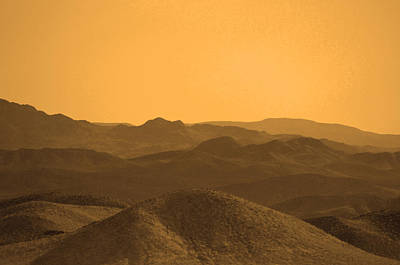 Photograph - Sepia Mountains by Deprise Brescia