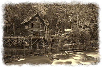 Photograph - Sepia Of Grist Mill by Dan Friend