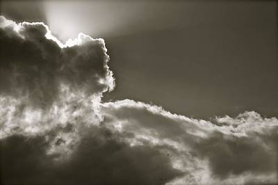 Photograph - Sepia Sun Ray by Lennie Green