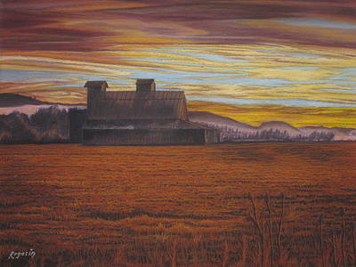 Painting - Sepia Sunset by Harvey Rogosin
