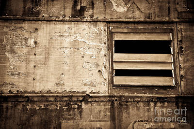 Sepia Tone Photograph - Sepia Toned Train  Window Number 2 by Jim Swallow