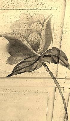 Sepia Wood Flower Art Print by Rob Hans